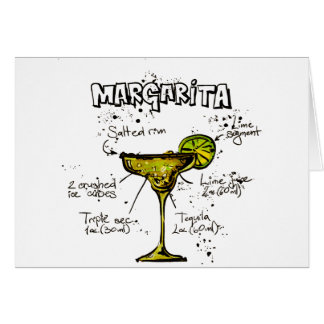 Cocktail Recipe Margarita Card