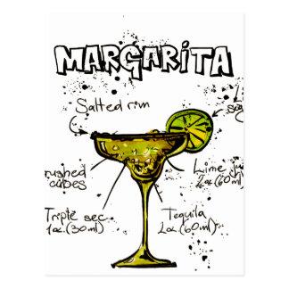 Cocktail Recipe Margarita Postcard