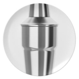 Cocktail shaker plate