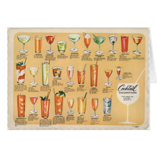 Cocktail Suggestions, Greeting Card