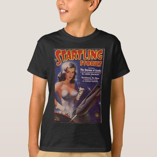 Cocktail Waitress in Space T-Shirt