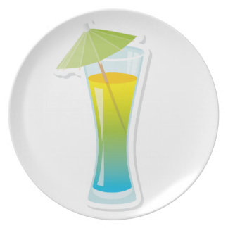 Cocktail with umbrella plate