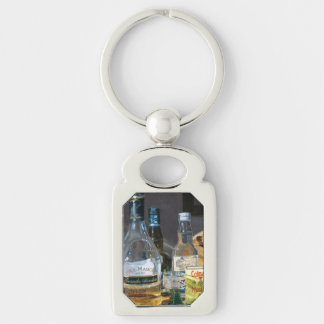 Cocktails and Mustard Key Ring