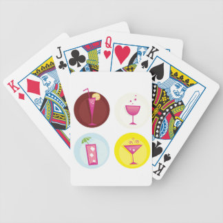 Cocktails cute ethno bicycle playing cards