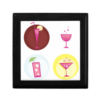Cocktails cute ethno gift box