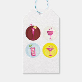 Cocktails cute ethno gift tags
