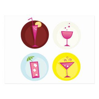 Cocktails cute ethno postcard