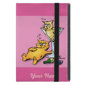 Cocktails & Kittens Funny Pink iPad Mini Case