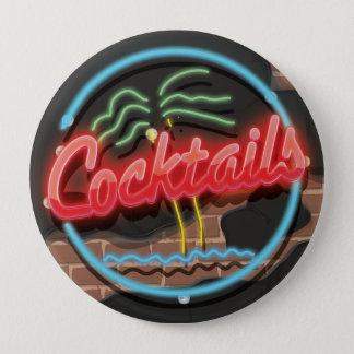 Cocktails Nightclub Neon 10 Cm Round Badge