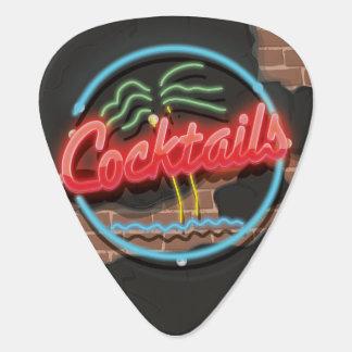 Cocktails Nightclub Neon. Guitar Pick