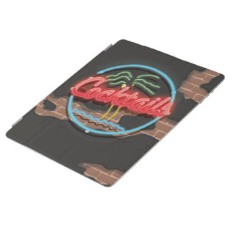 Cocktails Nightclub Neon. iPad Cover