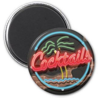 Cocktails Nightclub Neon Magnet
