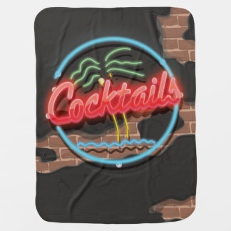 Cocktails Nightclub Neon. Swaddle Blankets