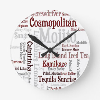 Cocktails Wall Clock