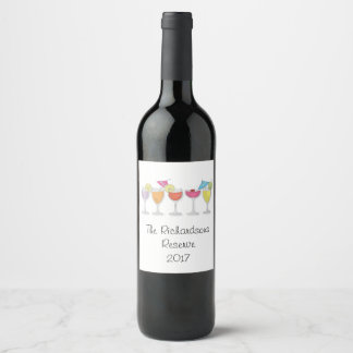 cocktails wine label