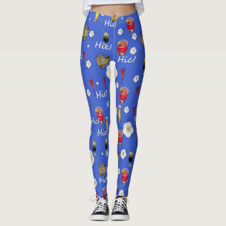 Cocktails With Flowers. Leggings