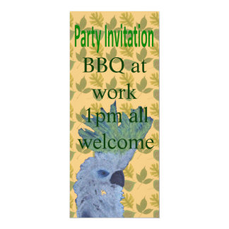 Cocky 10 Cm X 24 Cm Invitation Card
