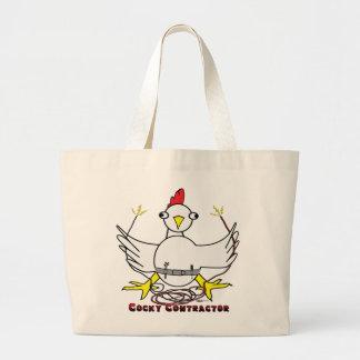 Cocky Contractor Jumbo Tote Bag