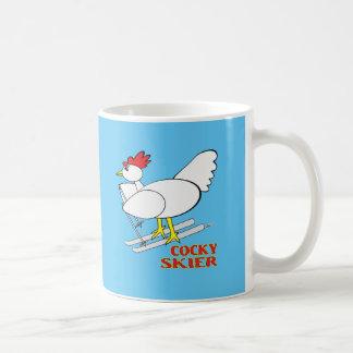 Cocky Skier Coffee Mug