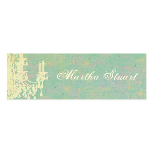 Coco Chandelier CHANGE COLOR / EGG SHELL PAPER Business Cards
