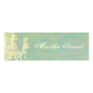 Coco Chandelier CHANGE COLOR / EGG SHELL PAPER Pack Of Skinny Business Cards