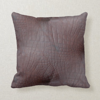 Coco Crocodile Faux Leather Throw Pillow