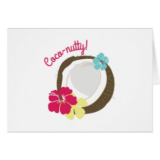 Coco-nutty Greeting Card