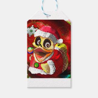Coco Rubber Ducky Santa Gift Tags