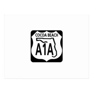 Cocoa Beach A1A Postcard