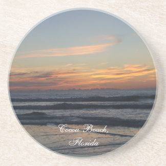 Cocoa beach Florida sunrise waves photo coaster