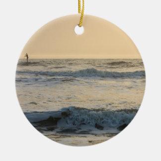 Cocoa Beach Paddleboarding Ceramic Ornament