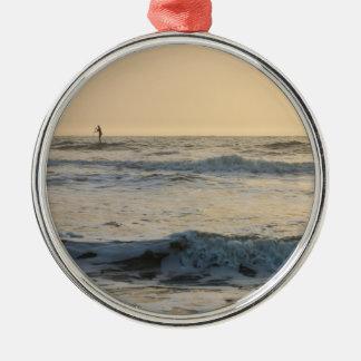 Cocoa Beach Paddleboarding Metal Ornament