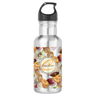 Cocoa Beans, Chocolate Flowers, Nature's Gifts 532 Ml Water Bottle