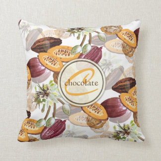 Cocoa Beans, Chocolate Flowers, Nature's Gifts Cushion