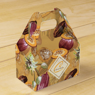 Cocoa Beans, Chocolate Flowers, Nature's Gifts Favour Box