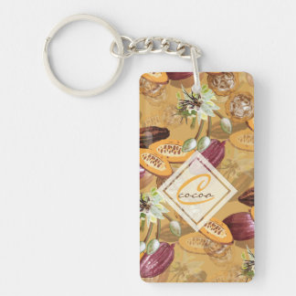 Cocoa Beans, Chocolate Flowers, Nature's Gifts Key Ring