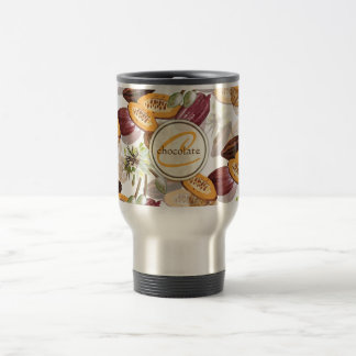 Cocoa Beans, Chocolate Flowers, Nature's Gifts Travel Mug