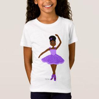 Cocoa Cutie Christmas Ballerina Purple(Mocha) T-Shirt