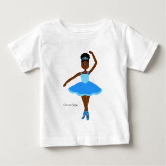 Cocoa Cuties Ballerina Blue Baby T-Shirt