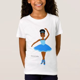 Cocoa Cuties Ballerina Blue (Mahogany) T-Shirt