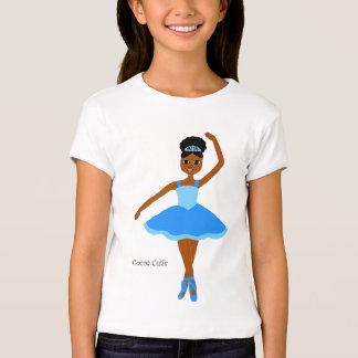 Cocoa Cuties Ballerina Blue (Mocha) T-Shirt