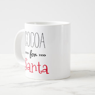 Cocoa for Santa Large Coffee Mug