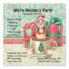 Cocoa Penguin Winter Party Card