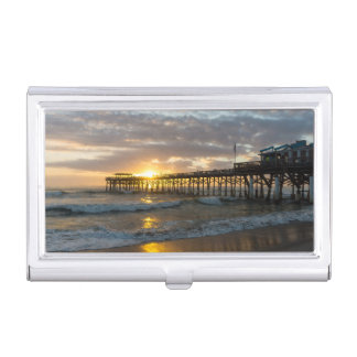Cocoa Pier 1st Sunrise 2017 Business Card Holder