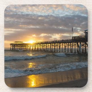 Cocoa Pier 1st Sunrise 2017 Coaster