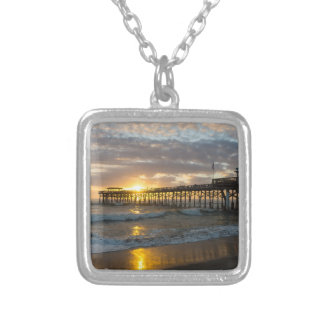 Cocoa Pier 1st Sunrise 2017 Silver Plated Necklace
