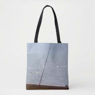Cocoa Pier Fishing Tote Bag
