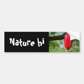 cocoa pod red bumper sticker