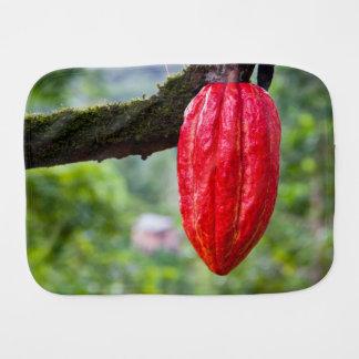 cocoa pod red burp cloth