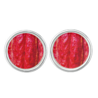 cocoa pod red cuff links